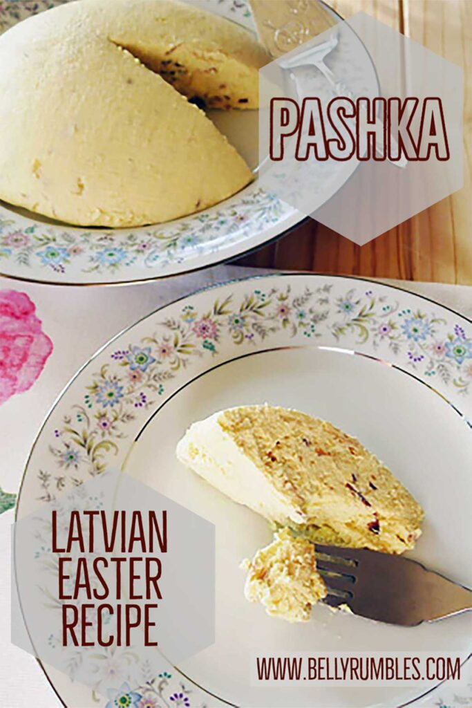 pashka and a slice on a  plate