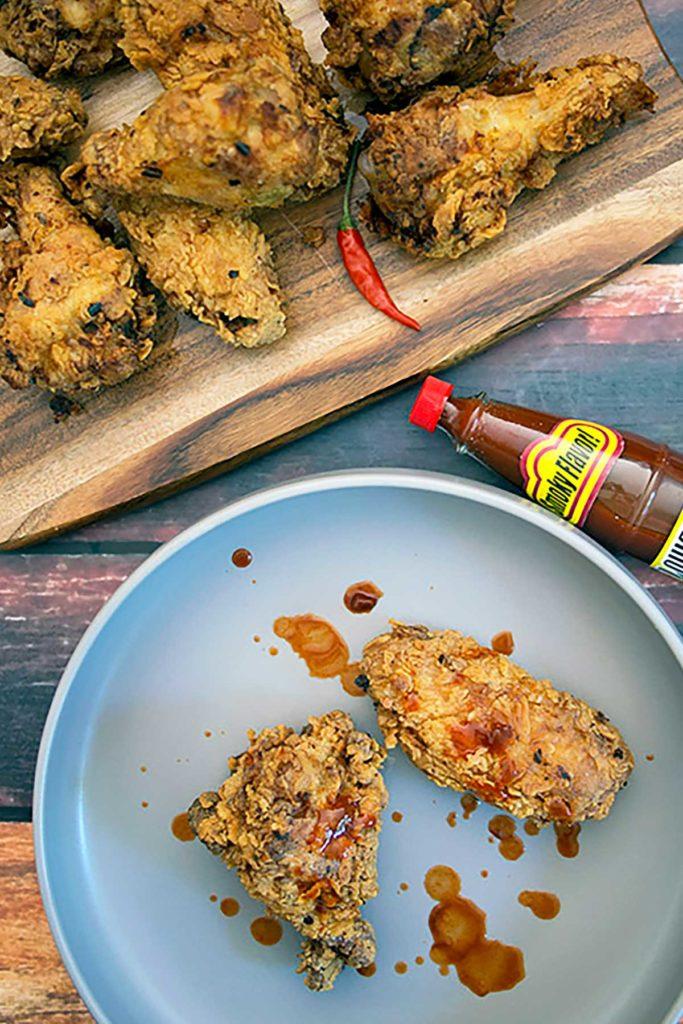 crispy chicken wings recipe pinterest pin