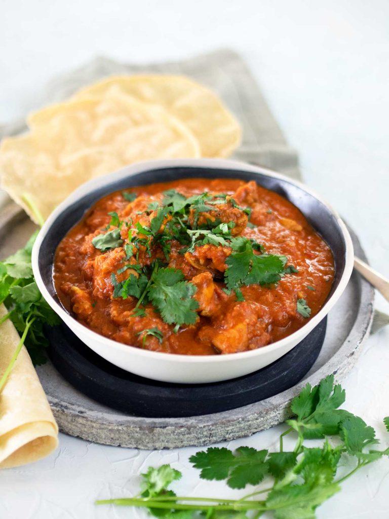 bowl of karahi chicken