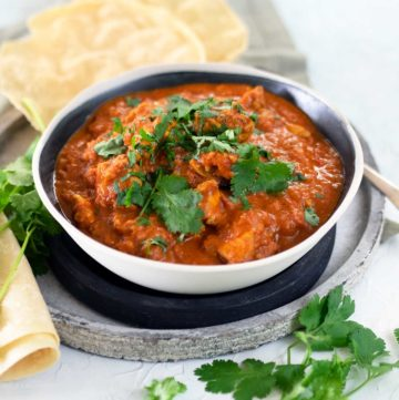 bowl of karahi curry