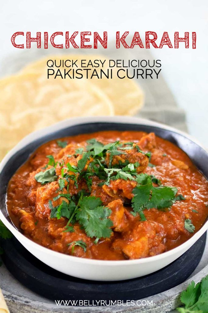 chicken karahi recipe pinterest pin