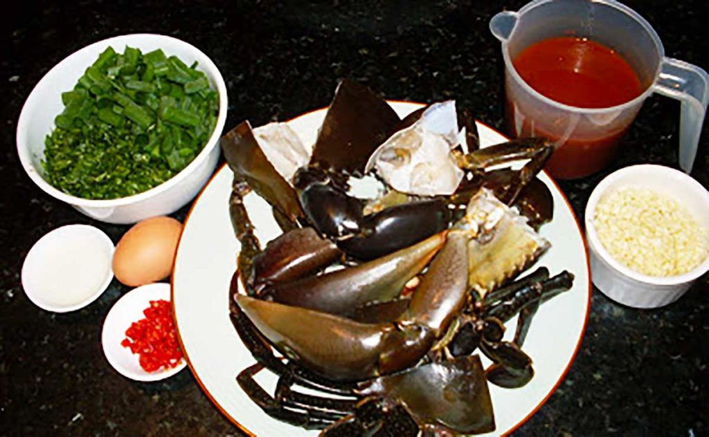 ingredients for chilli mud crab