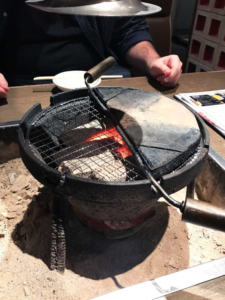 indoor table top bbq that uses charcoal