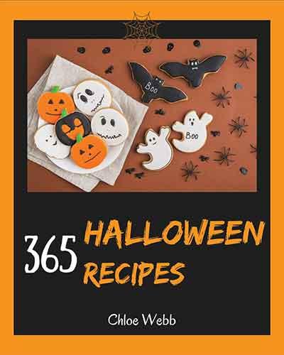 book cover 365 halloween recipes