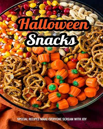 book cover halloween snacks