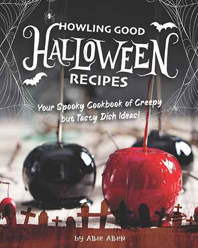 book cover howling good halloween recipes