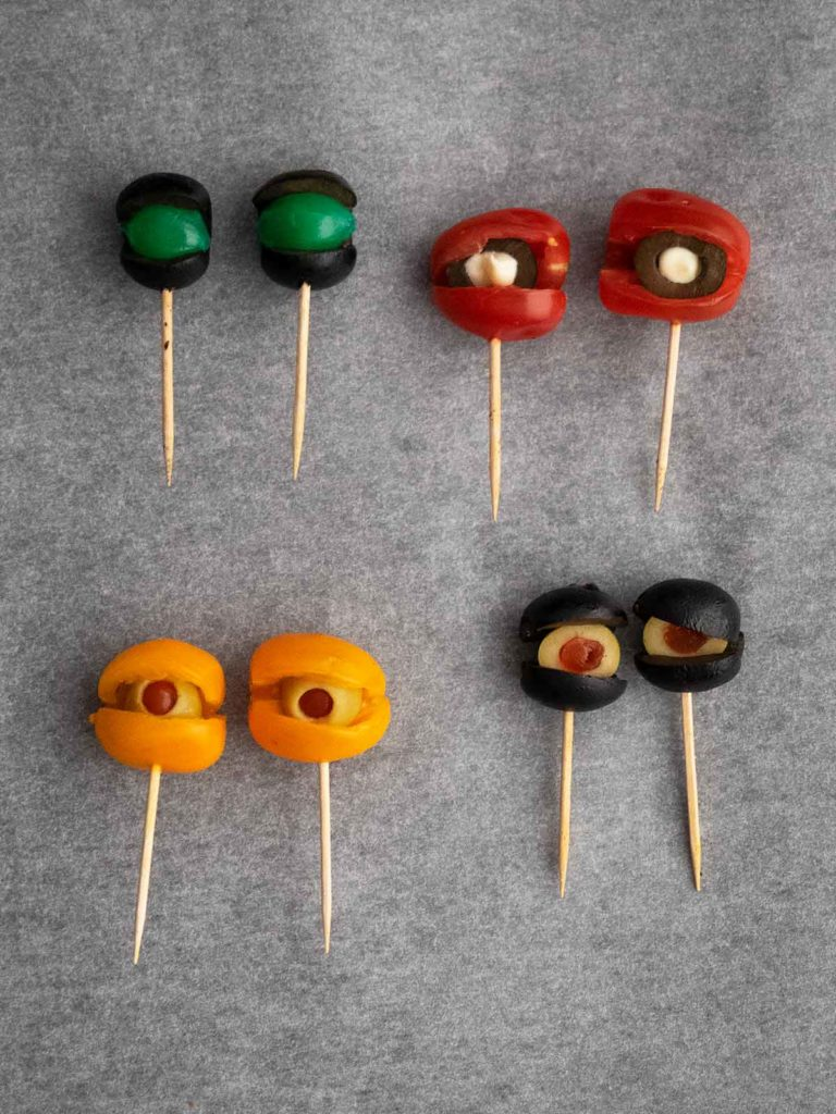monster eyeballs on toothpicks