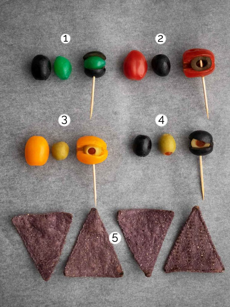 showing how to put together monster eyeballs