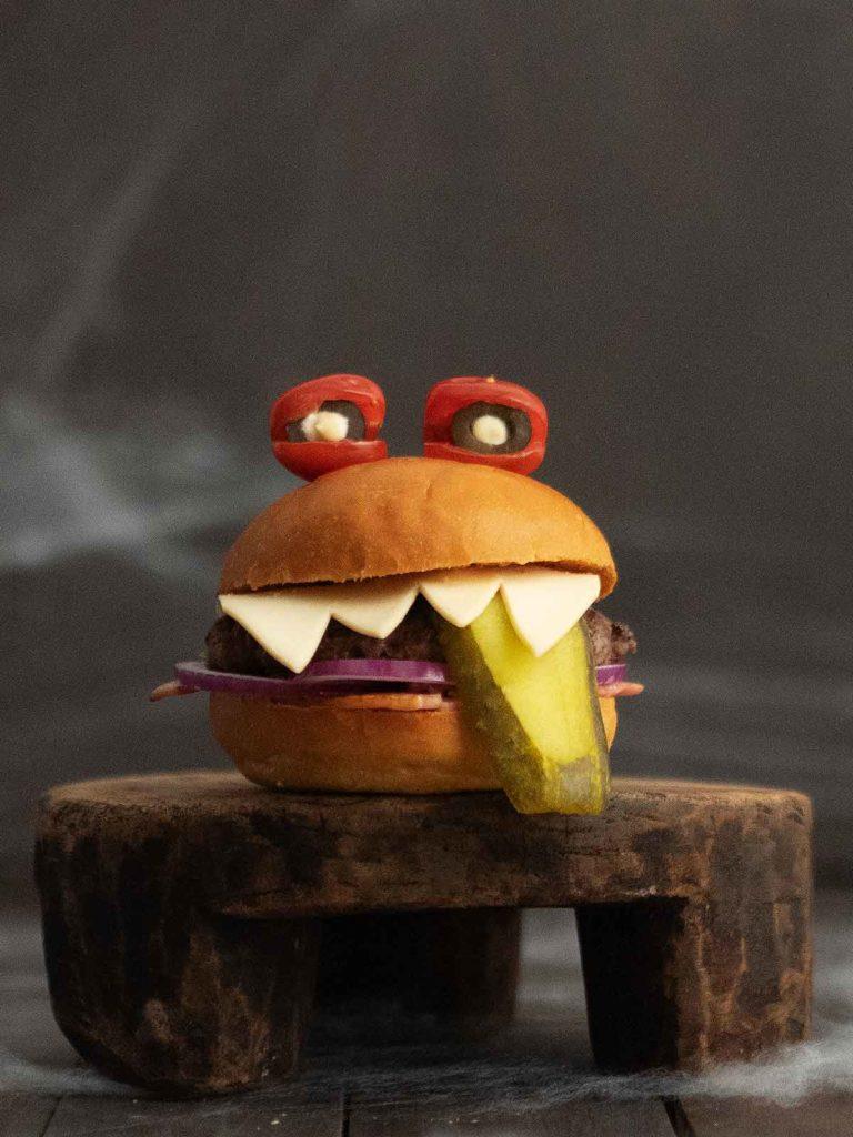 close up of burger