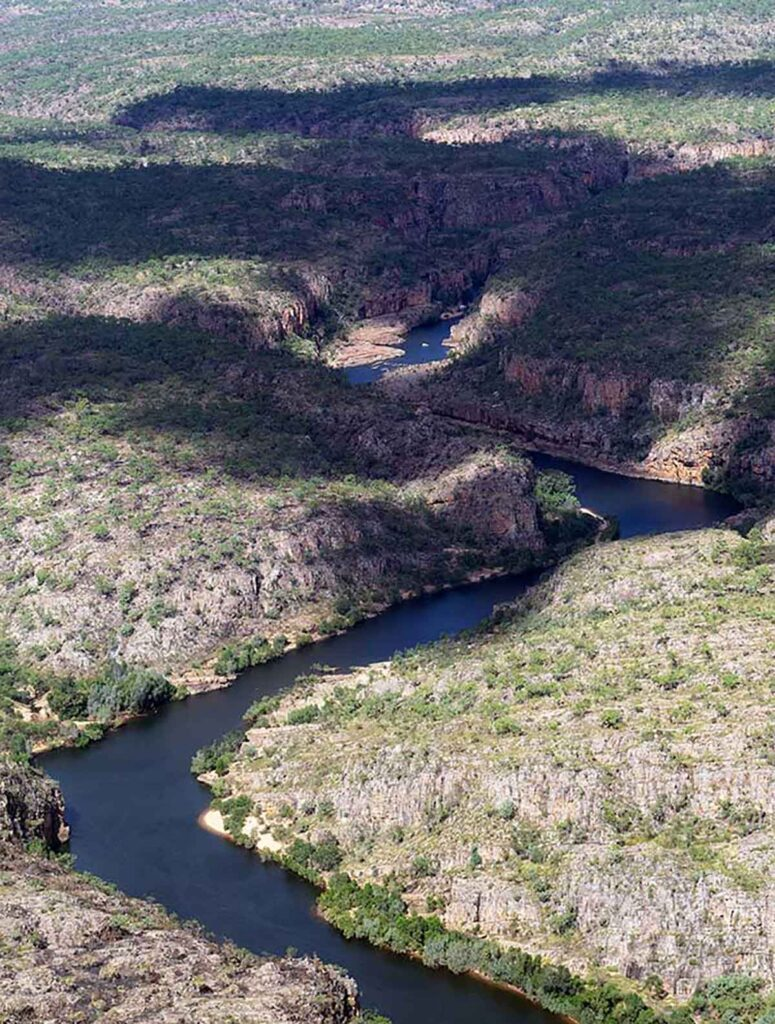 The Gorge in Nitmiluk National Park taken from a plane