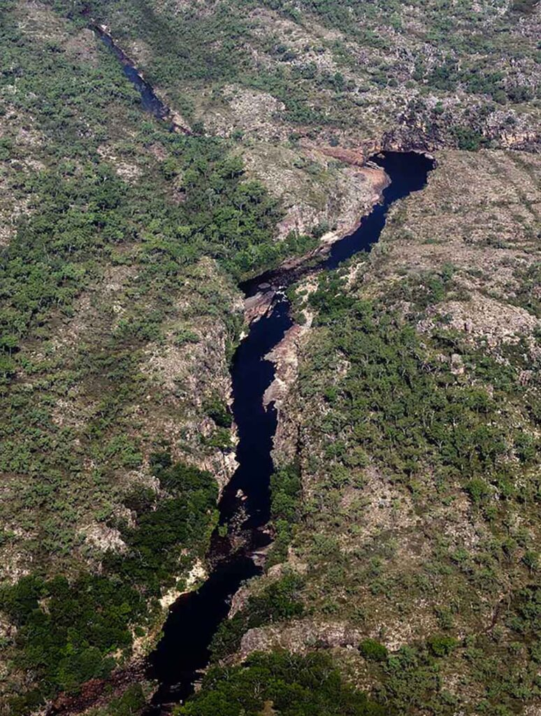 Katherine Gorge from the air