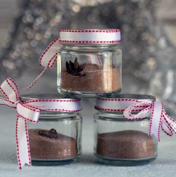 Christmas sugar in jars
