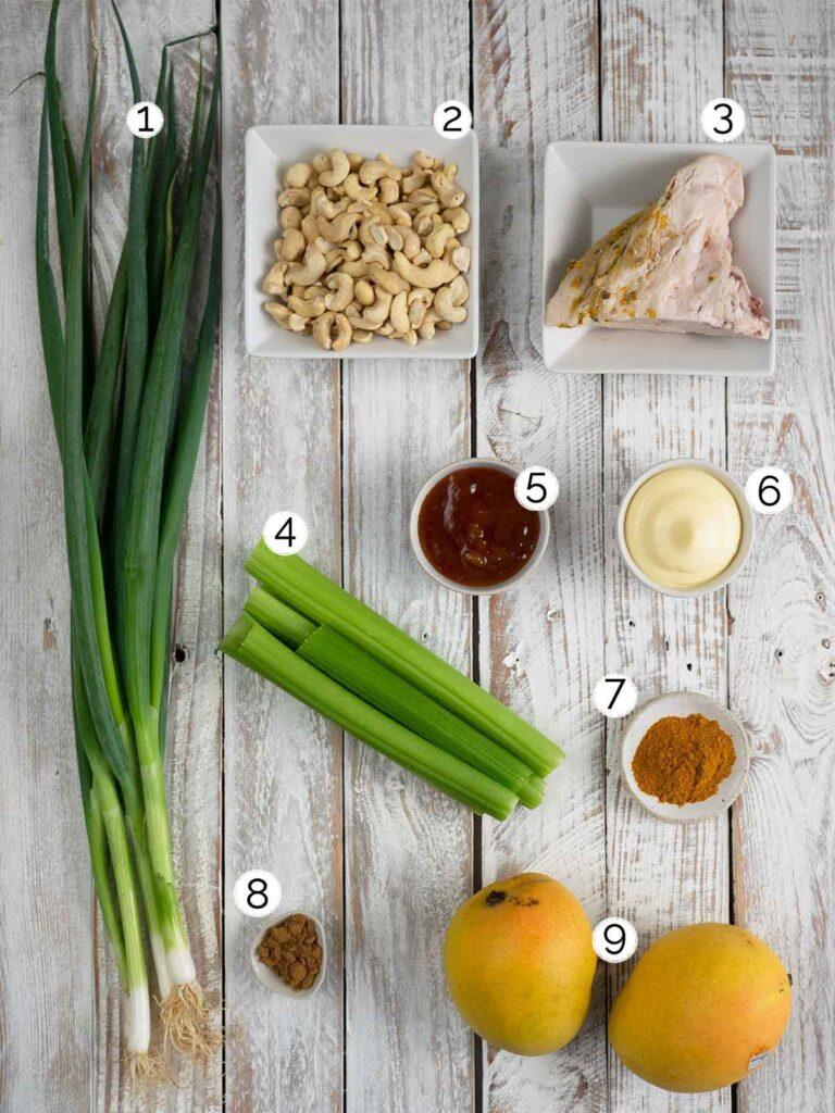 curry mango turkey salad ingredients
