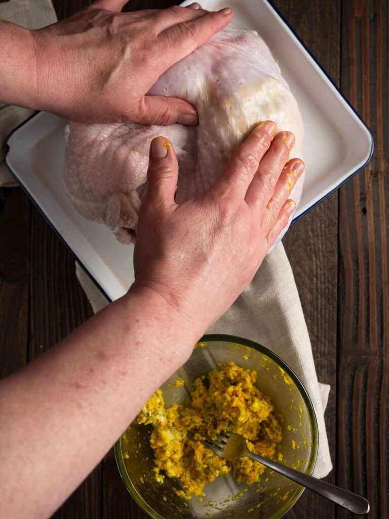 smoothing butter under the skin