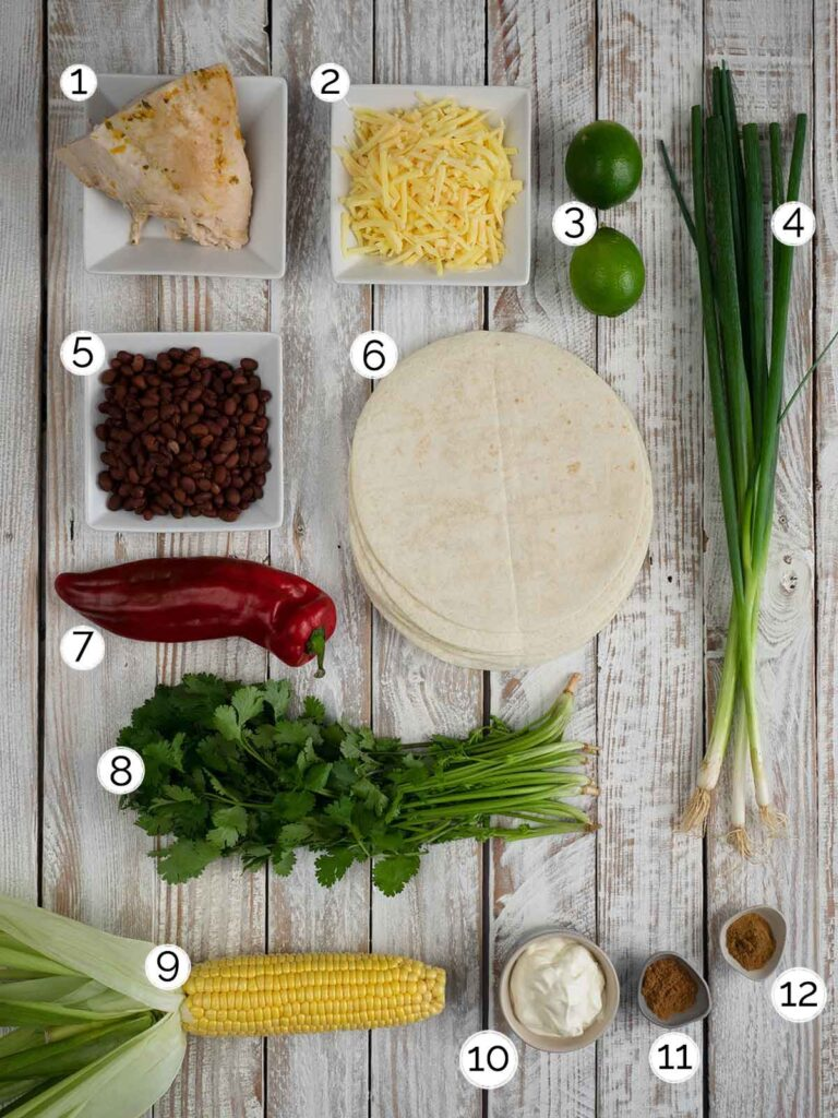 turkey quesadillas ingredients