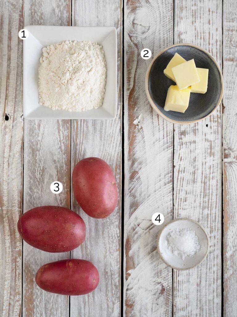 Irish potato bread (farls) ingredients