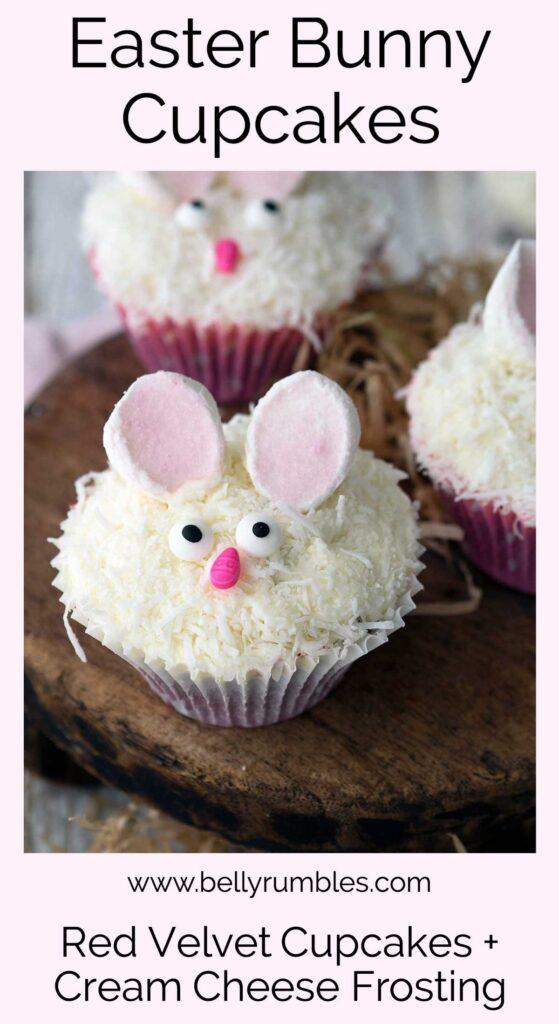 bunny cupcakes pinterest pin