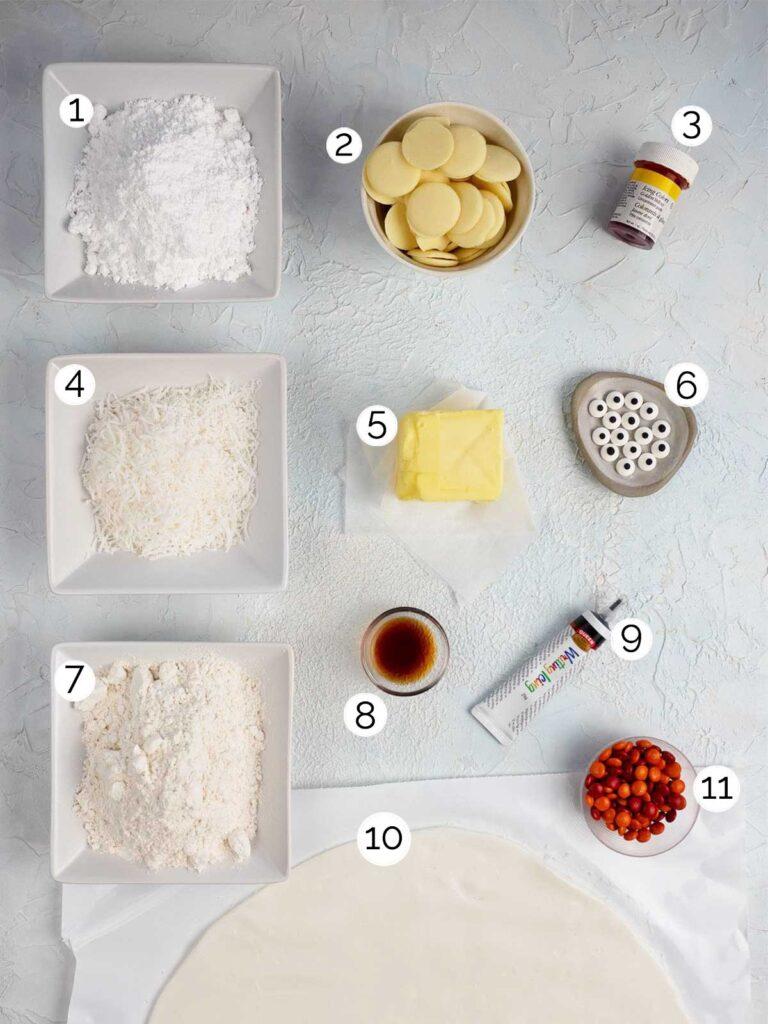 Easter Chick Cookies Ingredients