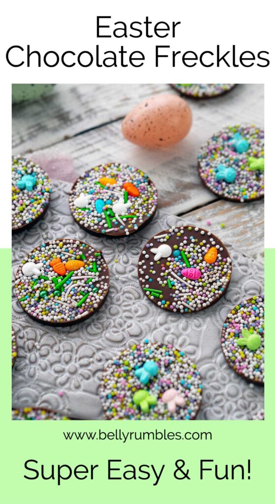 Easter chocolate freckle pinterest pin