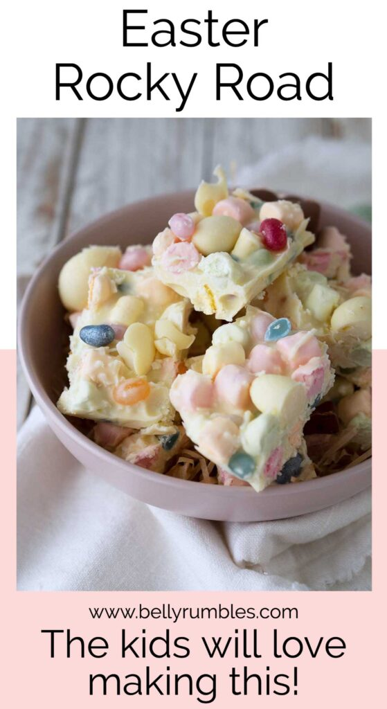Easter rocky road pinterest pin