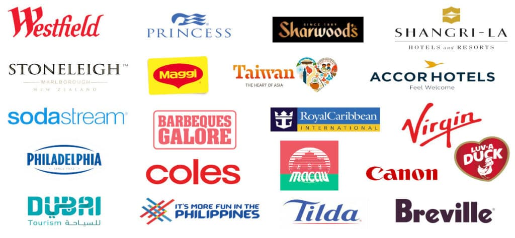 image showing brand logos that Belly Rumbles has worked with