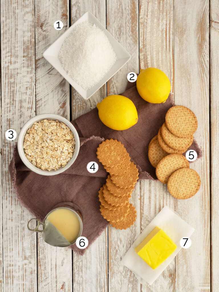 no bake lemon slice base ingredients