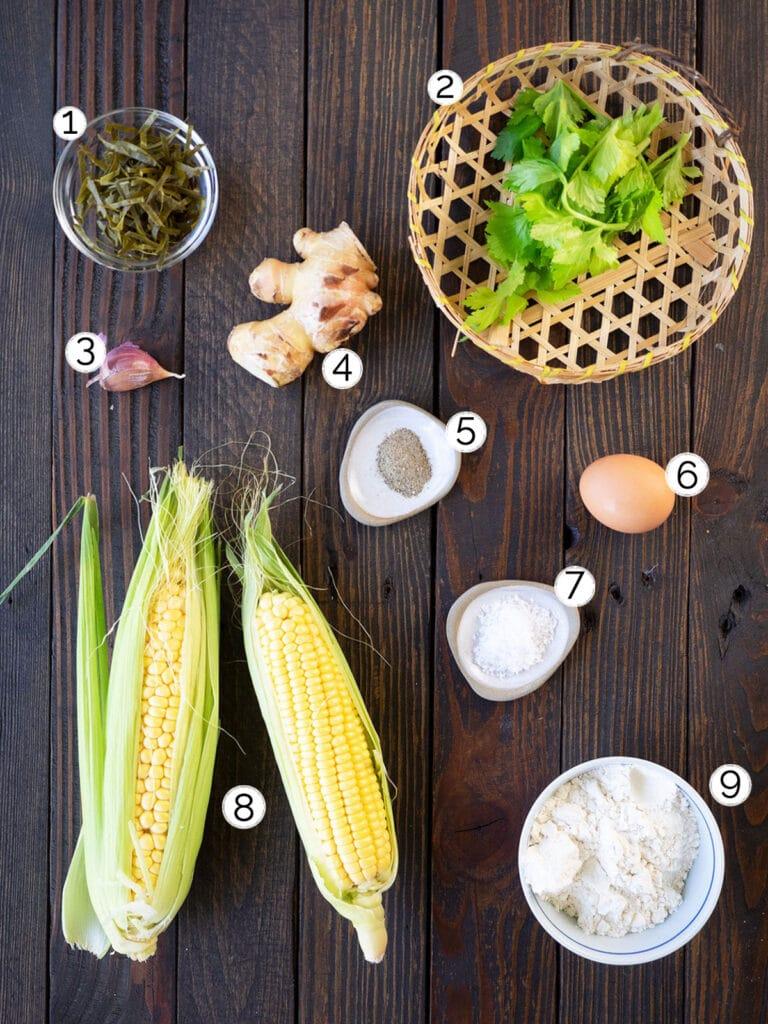perkedel jagung ingredients