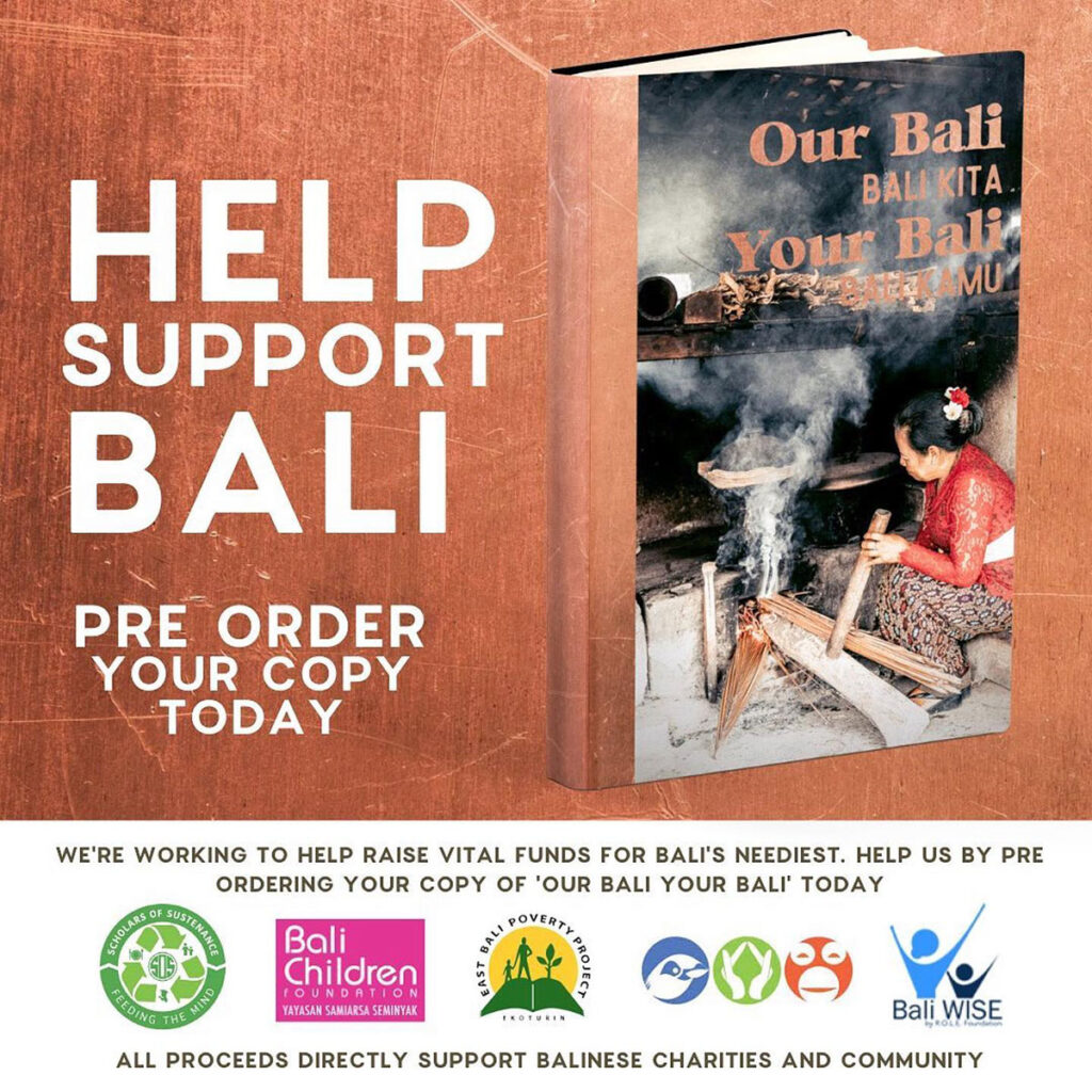 our Bali your Bali book cover and charity information