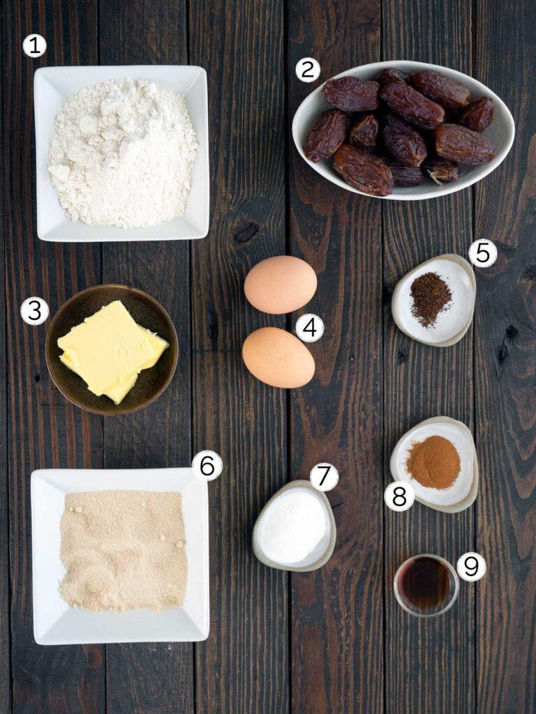 date donut ingredients