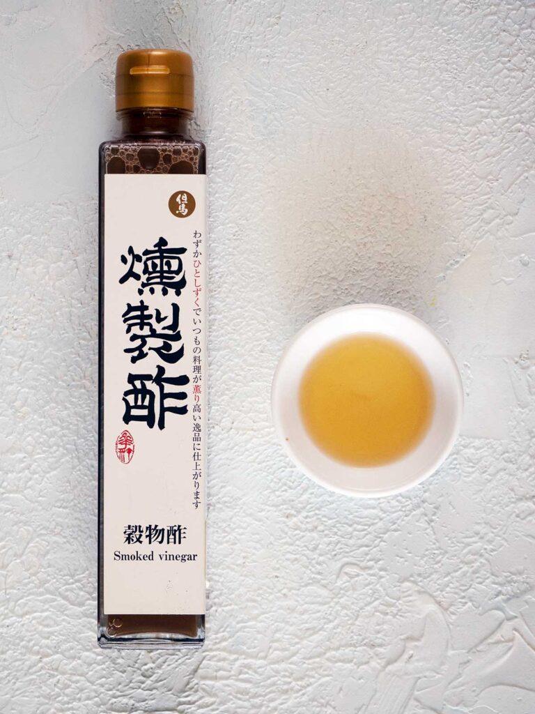 bottle of smoked vinegar