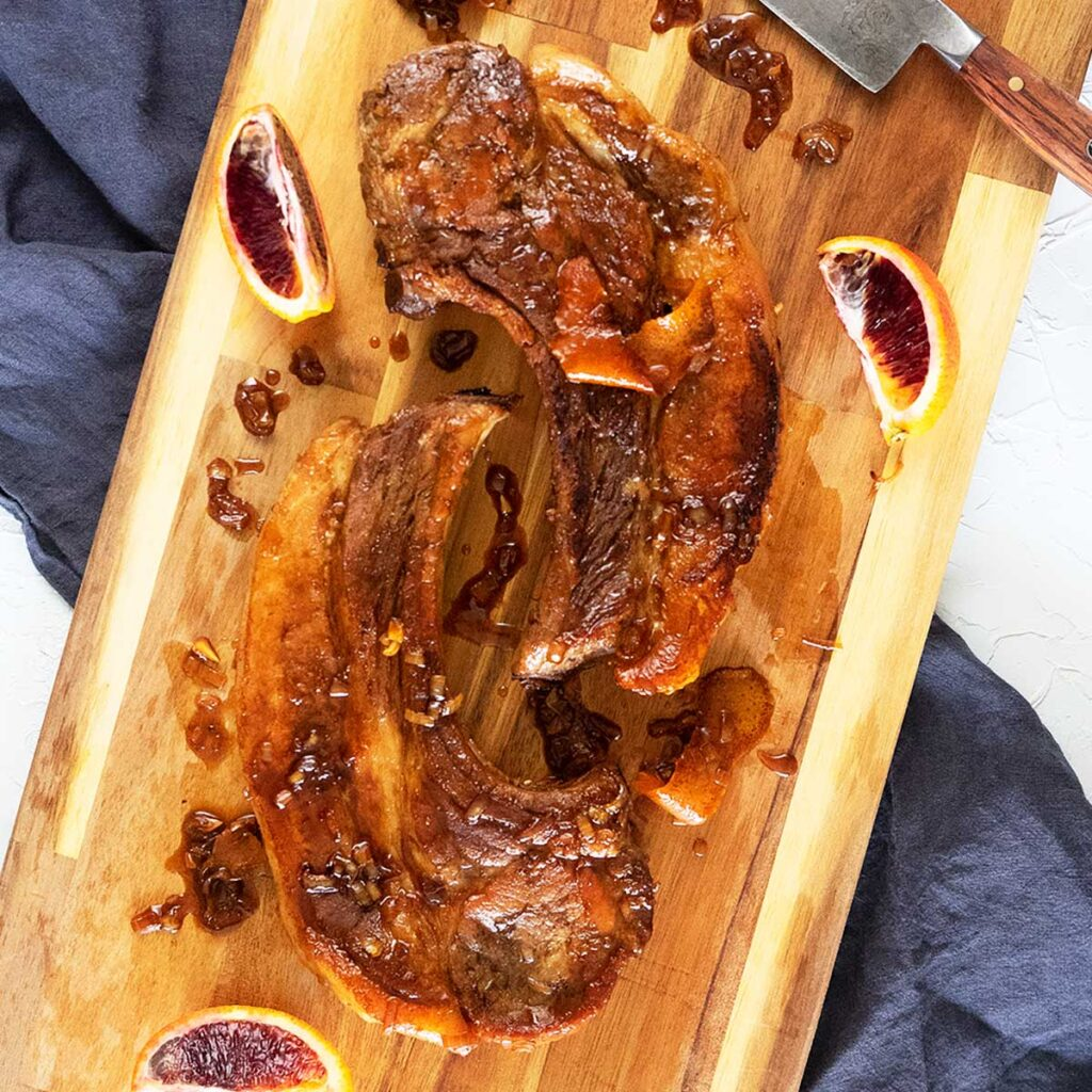 oven baked sticky pork chops recipe