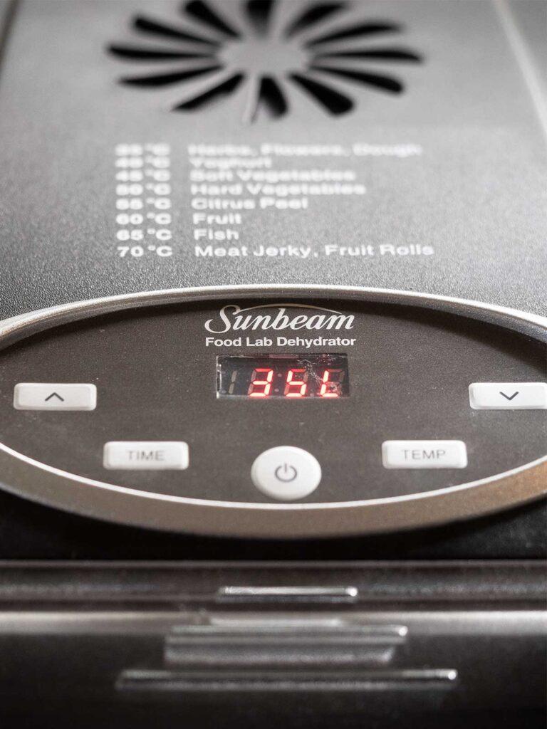 deyhdrator temperature display