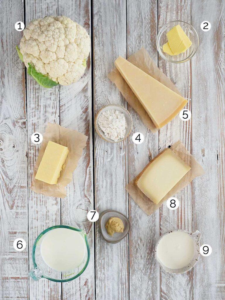 cheesy cauliflower ingredients