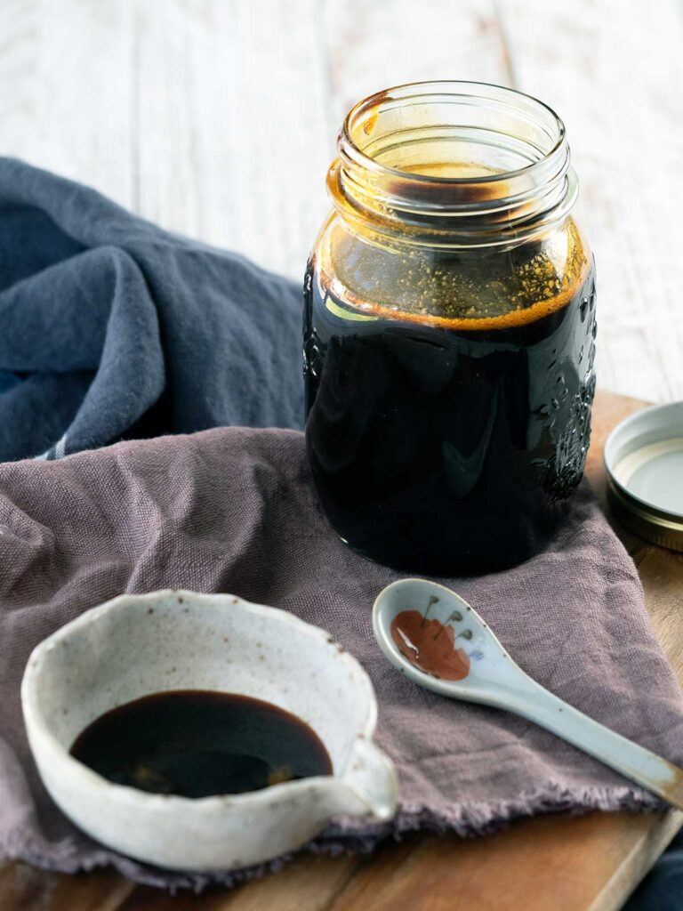 best teriyaki sauce in a jar and a pouring bowl