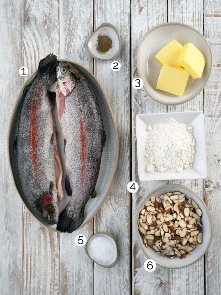 trout almondine ingredients